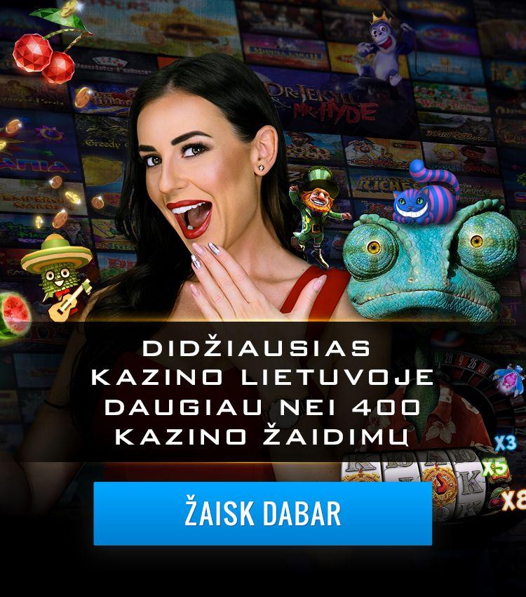 Didžiausias kazino Lietuvoje 400