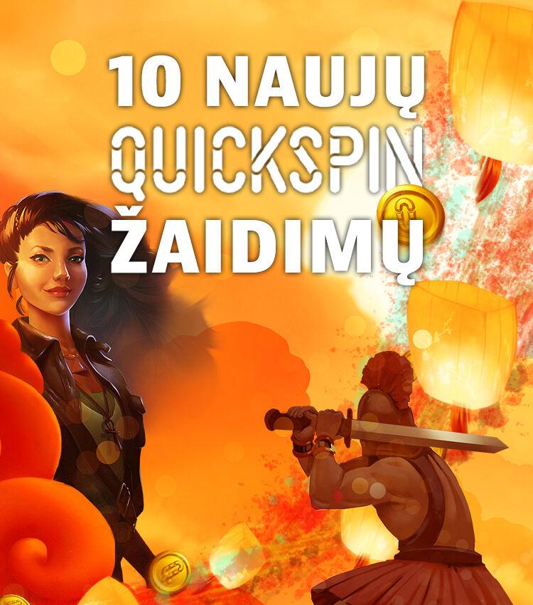 Quickspin 10 naujausiu zaidimu