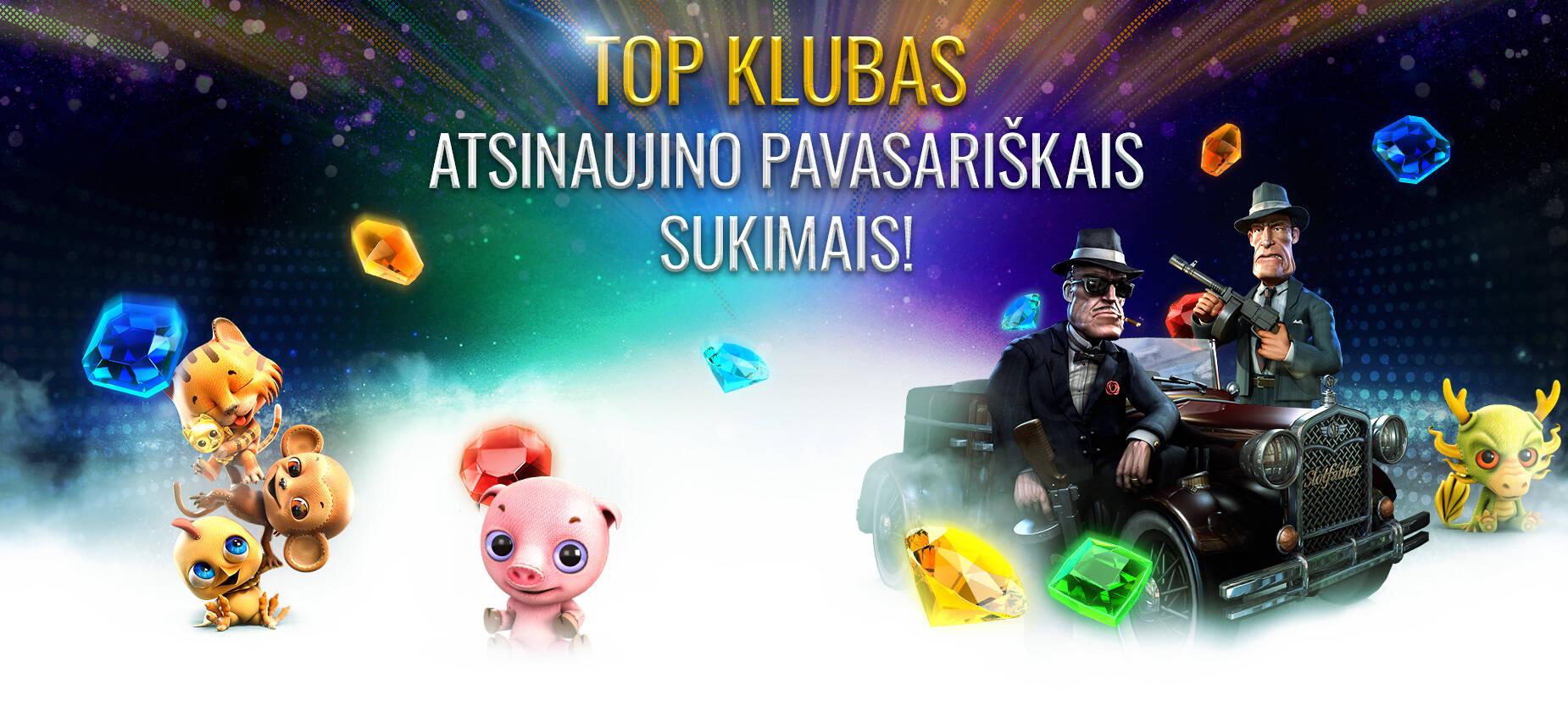 TOP KLUBAS ATSINAUJINO PAVASARIŠKAIS SUKIMAIS!