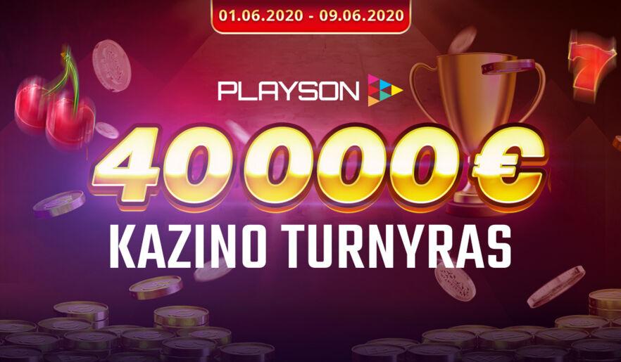 Playson turnyras su 200 prizinių vietų!