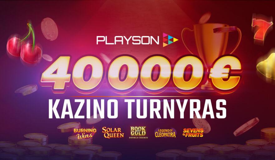 Playson populiariausių žaidimų turnyras