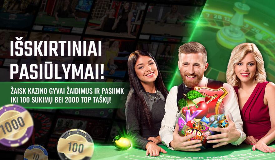 Išskirtiniai pasiūlymai kazino gyvai žaidimams