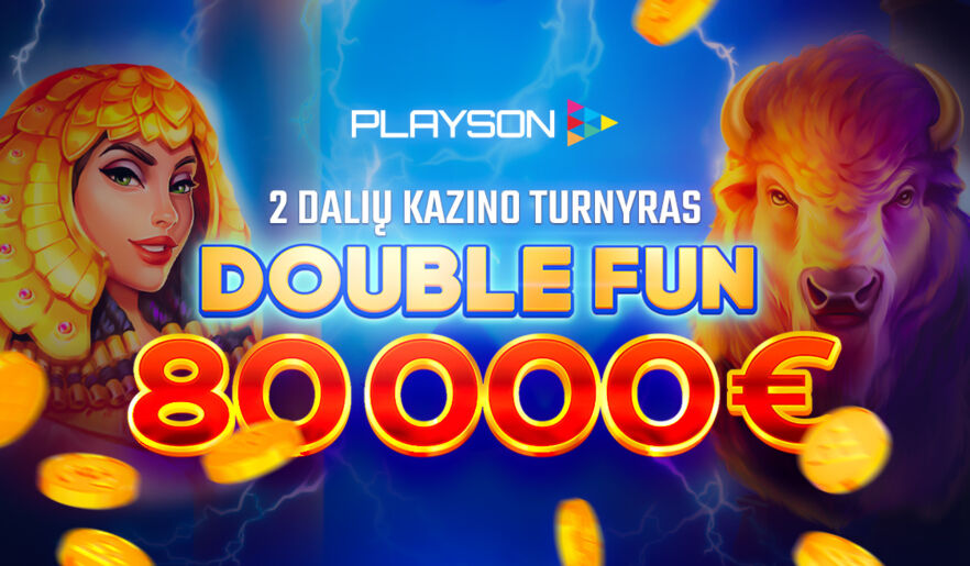 Playson 80 000€ turnyras iš 2 dalių