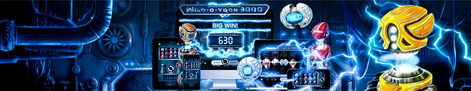 <span style='color: #7df9ff'>WILD-O-TRON 3000</span> Plug in and Spark up! Robots are coming your way!