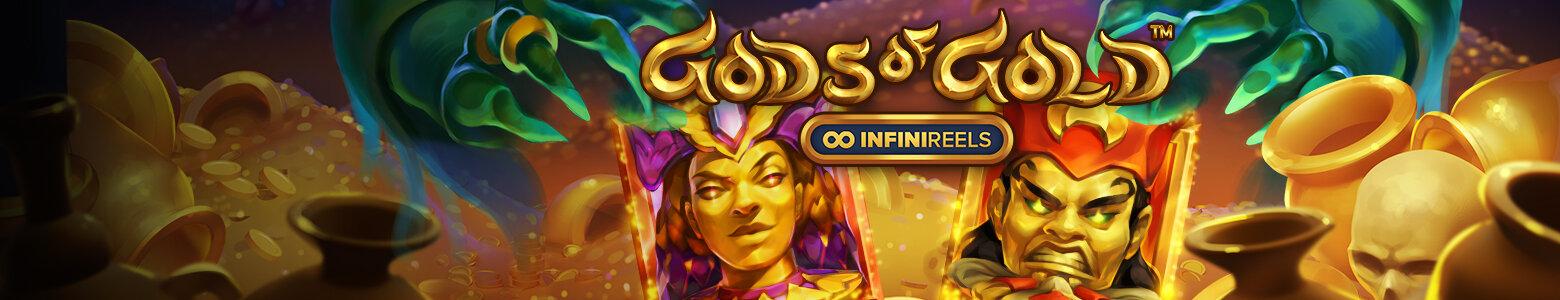 <span style='color: #f9d901'>NETENT ŽAIDIMAS</span> Begalybė galimybių laimėti su Aukso Dievais!