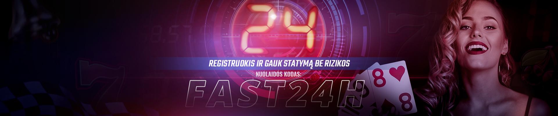 UŽSIREGISTRUOK PER 24 val. IR IŠNAUDOK PASIŪLYMĄBE RIZIKOS!
