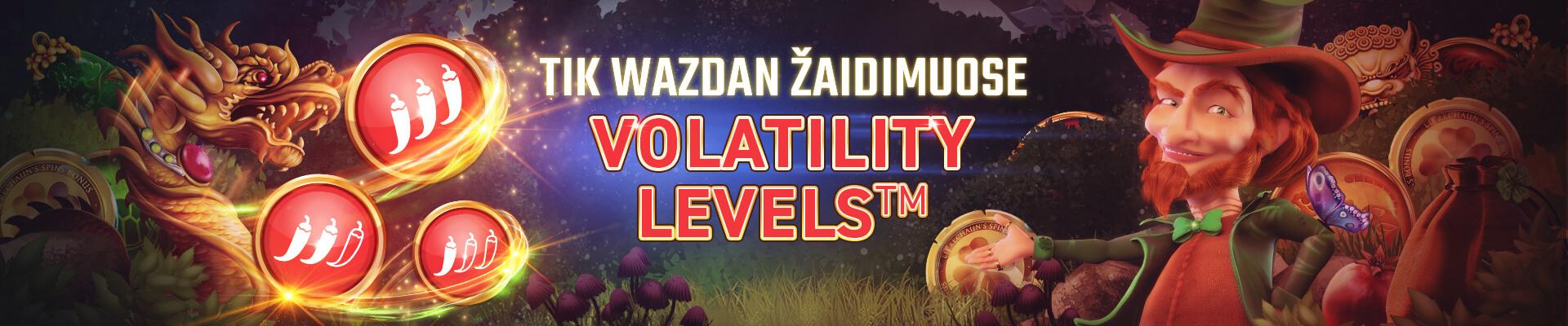 Wazdan volatility levels